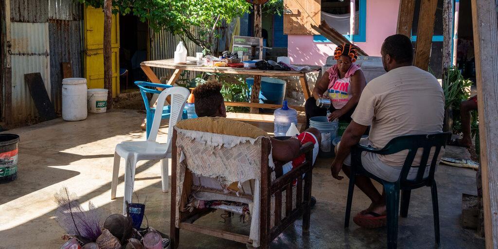 Доминикана. Рыбацкая деревня Макао.