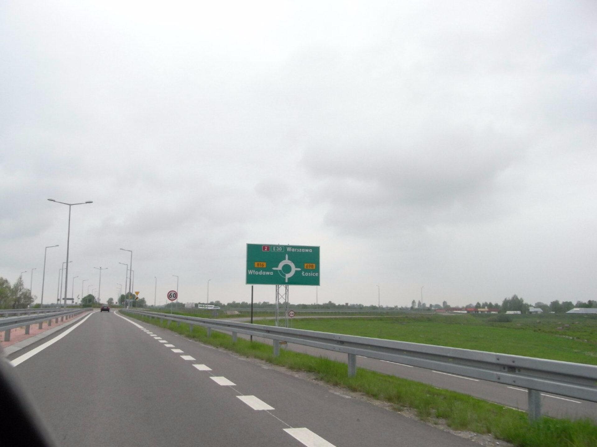 Транзит через Польшу.