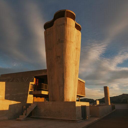 Unite d'Habitation Le Corbusier. Жилая единица Марселя
