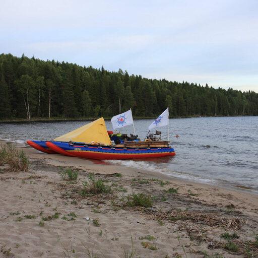 Онежское Озеро 2016 на катамаране.