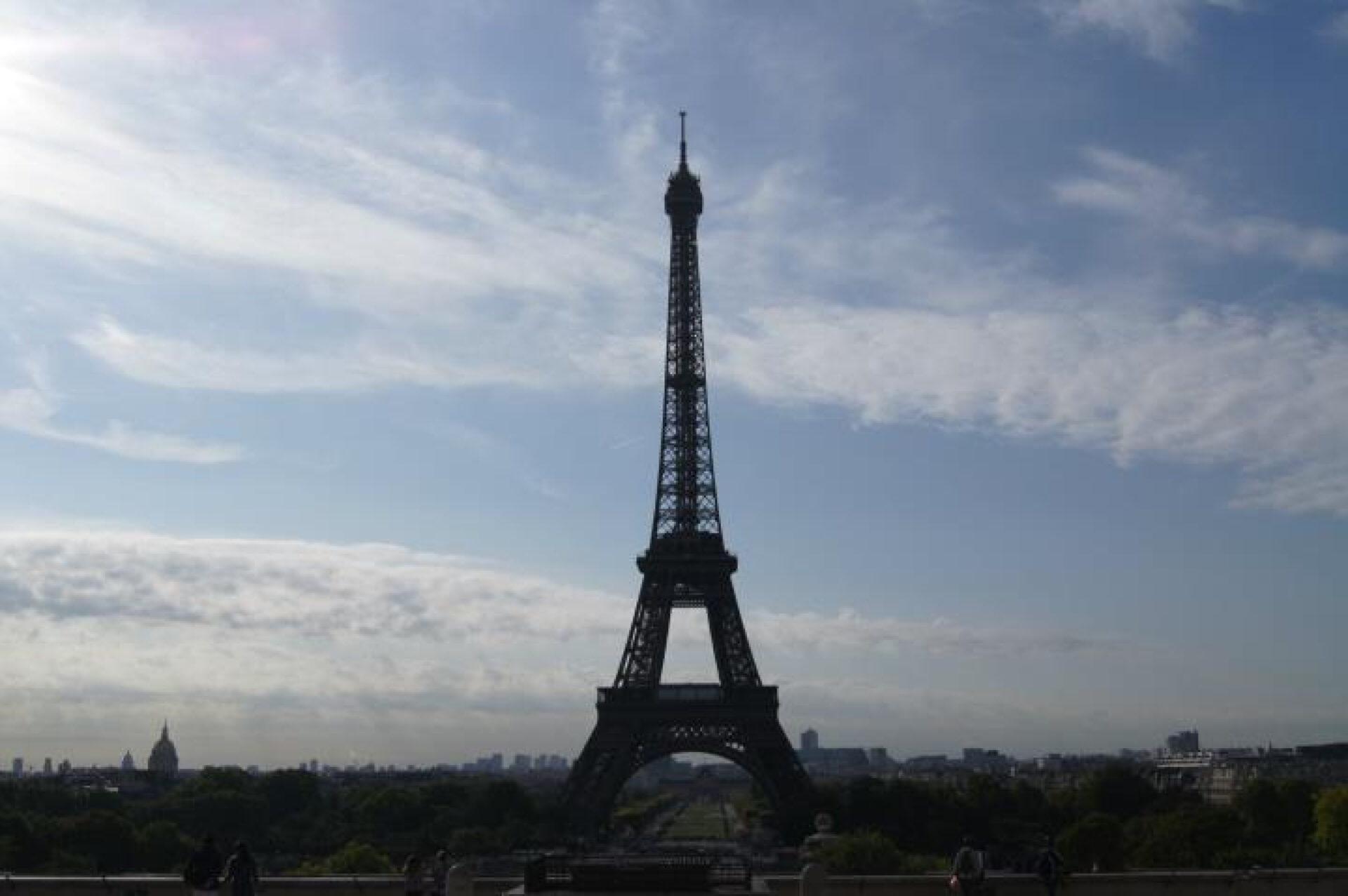 Виды наПариж свысоты Эйфелевой башни.