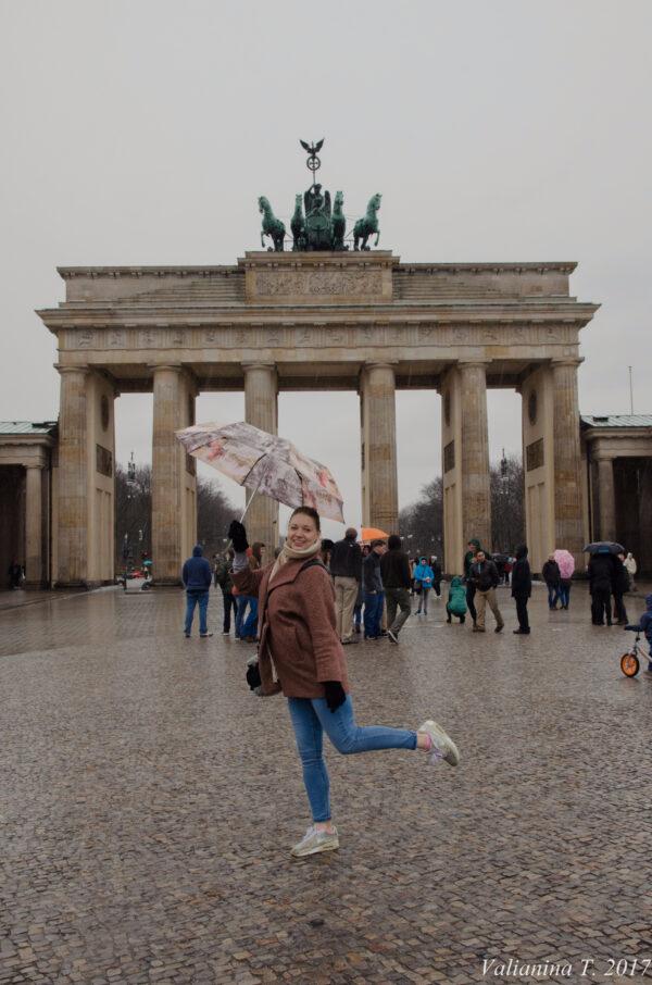 Берлин как фон для портретов.