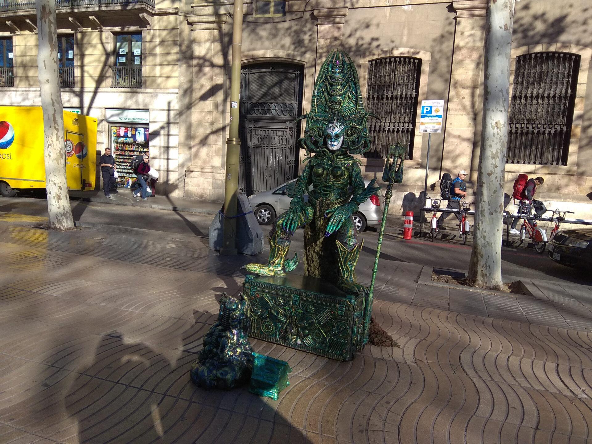 Барселона. Уличные персонажи